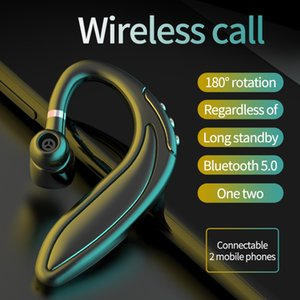 HMB-18 Handsfree Wireless Bluetooth 5.0 Earphones Noise Control Business Wireless Headset with Mic for Driver Sport iPhone Smartphones