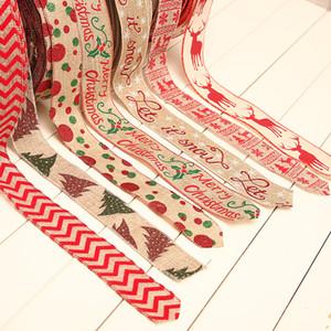 Рождество Decoraton белье Тесьма Печатного горошек лямка Рождественские подарки Упаковка Инструменты Японский стиль украшение