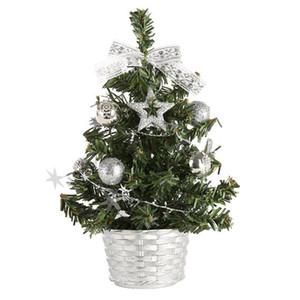 45 # Mini Arbres de Noël Noël Décorations Un petit arbre pin placé dans la fête de Noël de bureau Accueil Ornements 20cm