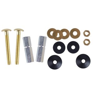 2pcs Heavy Duty Repair Solid Brass Double Gaskets Toilet Tank To Bowl Bolt Kit