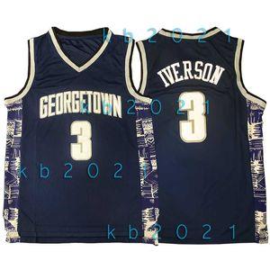 NCAA Allen Iverson 3 Jersey LeBron James 23 Dwyane Wade 3 Bethel Schule Georgetown Hoyas College-Ja 12 Morant Basketball Jerseys