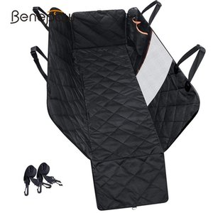 Benepawpet Quality Waterproof Pet Dog Car Seat Cover Mesh Visual Window Nonslip Car Dog Hammock Trunk Mat With Storage Pockets