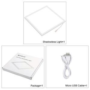 PULUZ البسيطة LED التصوير ظلال أسفل الخفيفة الظل 22.5CM خالية الوسادة لوحة ضوء مصباح ل20CM استوديو الصور صندوق