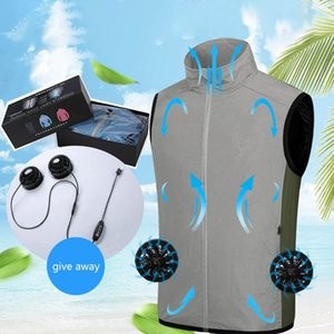 Summer Cooling Fan Vest Smart Air Conditioner Clothing Sun Protection Skin Clothing Jacket Outdoor Sports Vest 1