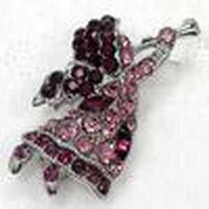Cgjxs Wholesale Crystal Rhinestone Anjo pequenos broches de moda Costume Pin broche de jóias presente C408
