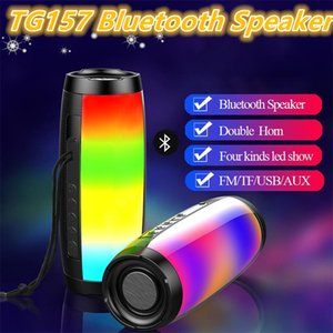 TG157 Portable LED Lamp Bluetooth Speaker Waterproof Fm Radio Wireless Speakers Mini Column Subwoofer Sound Box Mp3 USB Phone Computer MQ50