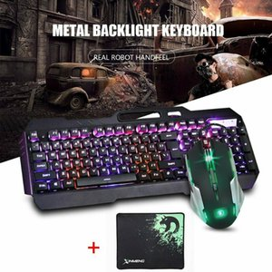 Hot K618 104 Keys USB Wired Multimedia RGB Backlit Gaming Luminous Keyboard and 2400DPI LED Gaming Mouse Sets with Mouse Pad