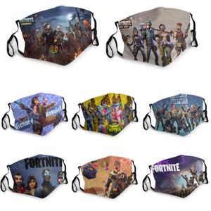 Halloween Individuelle Masken Fortnite Partei Cosplay Masken Wiederverwendbare Waschbar Digital Printing Masken-Halloween-Schutz Cotton Mask