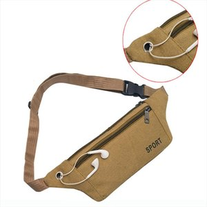 Unisex Outdoor Waist Bag Traveling Fanny Pack kidney Belt Running Phone Holder Sport Bum bags Pouch With Headphone Hole