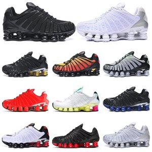 Nike Shox TL chaussures de course blanc Triple Noir Noir Gris Clay orange Sunrise Vitesse rouge formateurs taille baskets sport 40-46