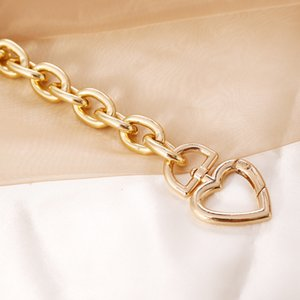 Find Me Geometric Alloy Thick Choker Necklace for Women Creative Heart Clavicle Necklaces Fashion Jewelry Accessories