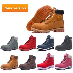 2020 Новый Verson Классический Человек Желтый Boots Черный Коричневый Размер 36-45 Премиум Пшеница нубука Сапоги зимние Красный Синий Розовый женщин сапоги