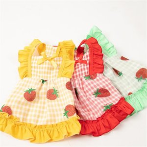 3 Colors Lovely Charm Pet Dresses High Street Personality Pet Skirts Summer Breathable Pattern Pet Design Clothing