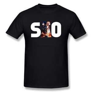 Sword Art Online Kirito Asuna Men's Black T-Shirt