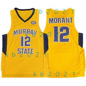 NCAA Ja 12 Morant Jersey Murray State University 25 Penny 1 Hardaway LeBron 23 James Stephen 30 Curry Basketball Jerseys