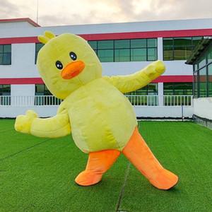 CE komik maskotlar satılık sarı ördek kostümleri şişirilebilir