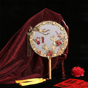 Style Chinese Style Bride Hand Held Fan Chinese Traditional Wedding Dress Marriage Formal Dress Accessories Handmade KYY9021
