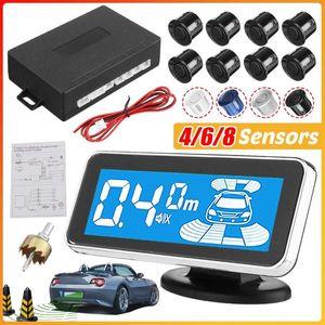 LED 모니터 전자기 주차 센서 (8) 자동차 Parktronic 전면 주차 센서 모션 백라이트 자동차 감지기