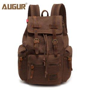 AUGUR Новая мода мужская винтажная рюкзак холст рюкзак мешок школы мужские дорожные сумки большой емкости путешествия ноутбук рюкзак сумка 200918