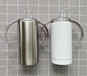 12 once Blank sublimazione Sippy Cup Etero Tumbler Bambini in acciaio inox Bicchieri Insulated biberon TRASPORTO MARITTIMO CCA12520