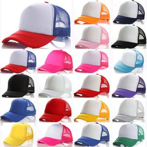 21 цветов Дети Бейсболка для взрослых Mesh Caps Blank Trucker шляпы Snapback Шляпы девочек Для мальчиков малышей шапочка DHD1681