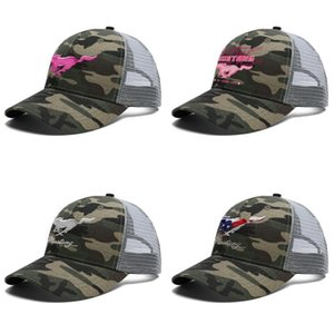 Mens Women Ford Mustang Pink The Legend Lives Adjustable Trucker Cap Dad Custom Best Vintage Baseball Hat logo American flag Fire Red