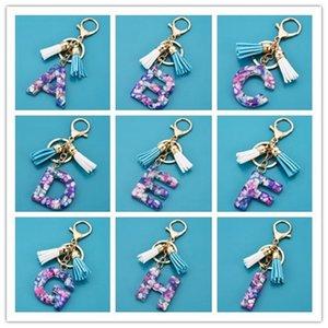 DHL liberano il trasporto alla rinfusa sveglia all'ingrosso Mini resina A-Z Lettera portachiavi Key Chain iniziale della lettera iniziale