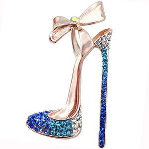 Branchée Chic Charme Bow Hauts talons style Broches Pins pour femmes Banquet Décoration Bijoux Fashion Broche XZ055
