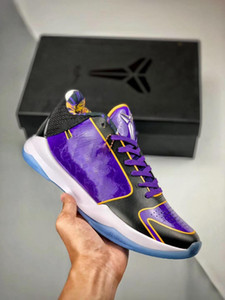 Mamba 5 PROTRO Chaos Hommes chaussures de basket-ball V Lakers Dark Knight Violet De Prelude Noir Anneaux formateurs sport design hommes baskets