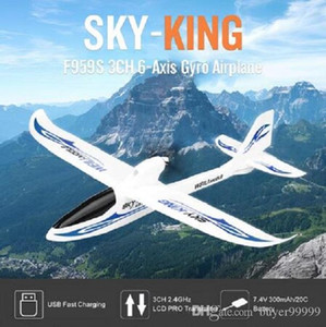 Avión RC Gyro WLtoys F959S 2.4G 3CH 6-Axis de ala fija SKY-Rey RTF remoto control de la aeronave Planeador