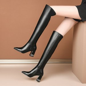 Sexy Clasic Womens Shoes Strange Heels Fashion Winter Knee High Boots Wedding Night Club High Heels Boots