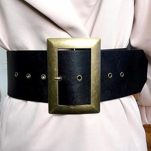 7cm de largura do cinturão negro das mulheres vermelhas decoração cintura centenas de correspondentes de cintura alta senhoras de banda larga cabeça cinto de costume cinto