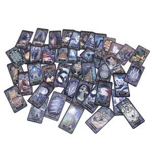 Tarjeta de la tabla del partido Juegos Tarjetas inglés Deck y juegos de misterio 78 Tarot Tarot divertido Junta Animal Magic Dropship Familias para yxlcnt