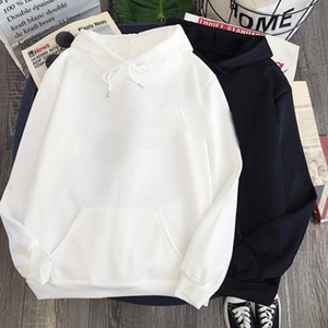 S-5XL Мужских толстовки пуловер с капюшоном пальто Мужской Street Wear Толстовка Solid Color Plus Размер Спорт Женщиной Человек Хлопок мода Толстовка