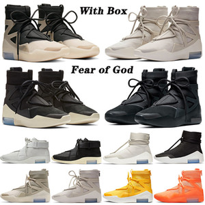 nike air fear of god 1 AVEC BOX vente String Question Hommes Basketball Chaussures Baskets La peur de Dieu pousse autour de la lumière os des femmes des hommes Bottes d'extérieur