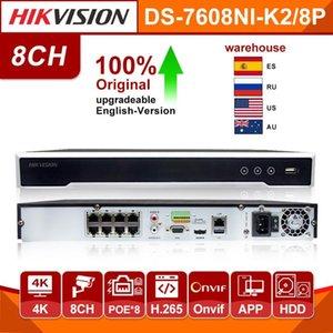 الأصلي هيكفيجن NVR DS-7608NI-K2 / 8P 4K شبكة مسجل فيديو 8CH الموانئ 8 POE NVR للPOE IP الكاميرا الدوائر التلفزيونية المغلقة عدة نظام الأمن