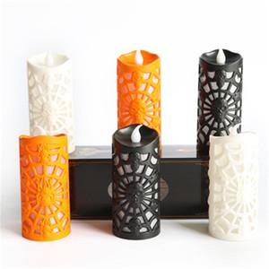 Halloween Creative LED bougie sans flamme batterie Multicolor lampe Simulation Flamme citrouille Lumière fête de mariage anniversaire Décor