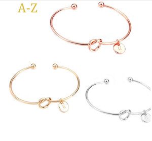 Europe and the United States knotted bracelets personality wild three-color 26 letters free combination bracelet wholesale knot bangle