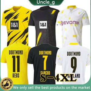 4XL 3XL Thai Borussia 20 21 Дортмунд Футбол Футбол 2020 Haaland Reus Футбольная рубашка Sancho Reus Hummels Brandt de oep Men + Kids Kit Maillot
