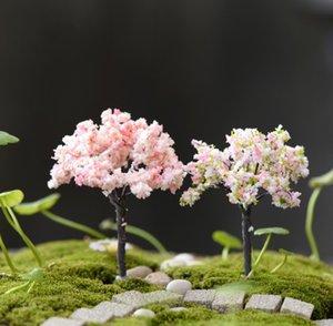 KAYISI 1piece Yapay Cherry çiçekleri Ağaç Bahçe Ev Evler Dekorasyon Mini Craft Mikro Peyzaj Dekor DIY Aksesuarları