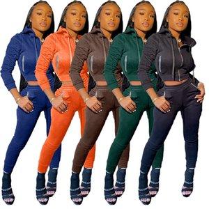 Mulheres Rhinestone Leggings ternos bolso basculador jaqueta treino s-2xl Inverno calças vestuário cardigan sweatsuits executando sportswear 3930