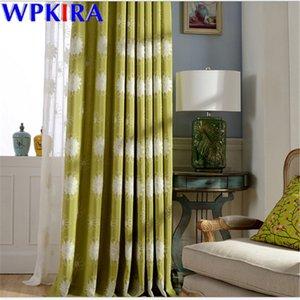 American Country de cortina para la sala de estar flor del bordado escarpado cortina de ventana persianas de la cortina 70% romana Panel Drape X-AD442 # 30