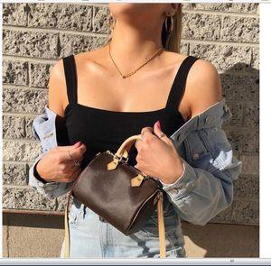Venta caliente 2020 Nuevo diseño de lujo de las mujeres mini bolso bandolera mejor calidad nano Speedy Moda de Crossbody del Nano Speedy Bag 16CM
