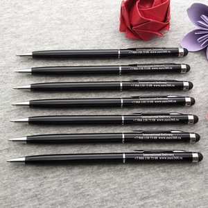 60pcs a lot personalzied wedding table centerpieces smartphone touching pens custom printing with your wedding date and wishes
