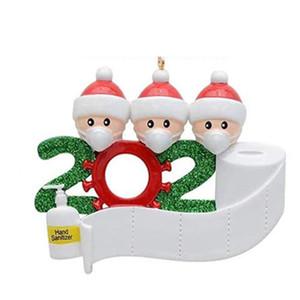 NUOVO personalizzata ornamenti Survivor famiglia con Maschere 2020 Survivor famiglia personalizzata di Natale che decora corredo regalo creativo DHL