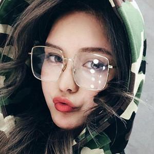 Sanwood unisex oversize Piazza metallo miopia della montatura occhiali anti-blu Eyewear Occhiali
