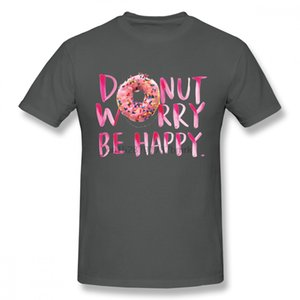 Leisure Donut Worry Be Happy T-shirt For Boy Free Shipping Unique Design For Male Round Neck Camiseta