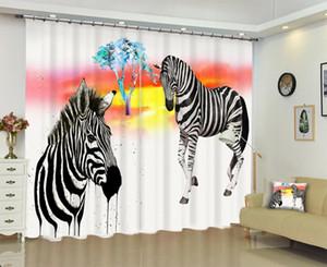 Babson Zebra impression numérique 3D rideau rideau de bricolage avancé photo personnalisé