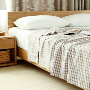 бренд бросок одеяла путешествие портативного домашнего использование летом прямоугольник плед высокого качества одеяла уровня экспорта для кровати хлопка серых розового