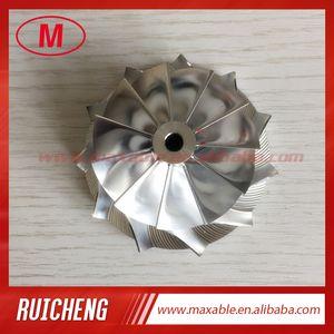 GT15 25 48,30 / 63.00mm 11 + 0 cuchillas hacia adelante fresado turbo / aluminio 2618 rueda de compresor / Billet